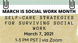 Self-care Strategies for Surviving Social Work